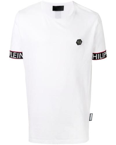 T-Shirt mit Logo-Bündchen