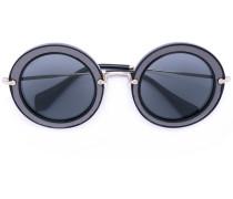 Runde Sonnenbrille - women - Acetat/metal - 49