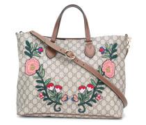 Florale Handtasche mit Monogrammmuster