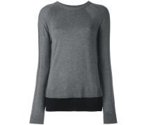 Pullover mit Kontrastbund