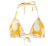 Bikinioberteil mit Ananas-Print