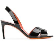 slingback patent sandals