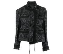 Asymmetrische Tweed-Jacke
