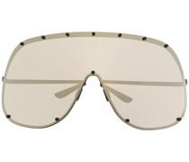 Verspiegelte Oversized-Sonnenbrille