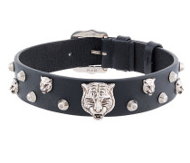 feline head studded choker