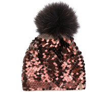 sequin embellished beanie