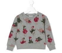 Sweatshirt mit Enten-Motiven