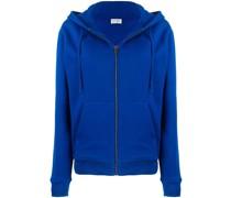 zip-up poplin hoodie