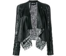 open front print jacket