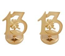 18kt 'Good Luck' Gelbgold-Manschettenknöpfe
