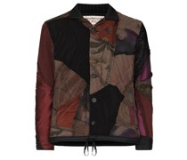 patchwork design bomber jacket