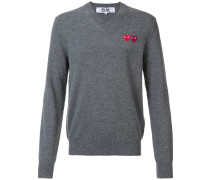 'Double Heart' Pullover - men - Wolle - S