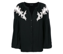 shoulder patch cardigan