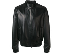 classic zipped leather jacket