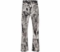 Gerade Jeans mit abstraktem Print