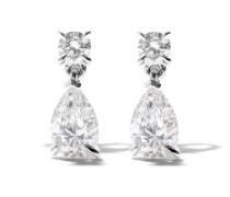 18kt 'Mye' Weißgoldohrringe mit Diamanten