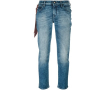Cropped-Jeans mit Taschen