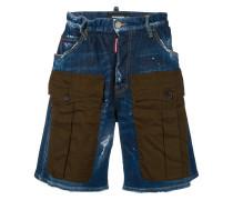 denim cargo shorts
