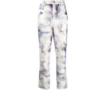 'Eloise' Jeans mit Batikmuster