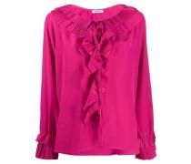 P.A.R.O.S.H. Bluse mit plissierten Rüschen