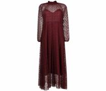Semi-transparentes Kleid mit Stickerei
