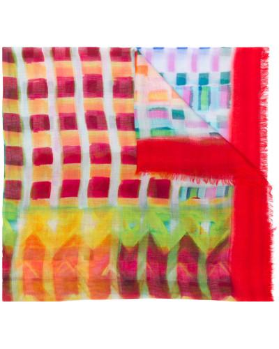 watercolor check scarf