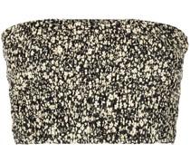 Bandeau-Top mit Blumen-Print