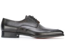 Derby-Schuhe aus genarbtem Leder