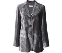 metallic fitted blazer
