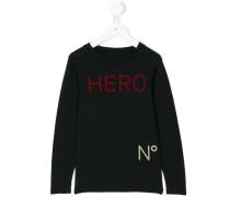 "Sweatshirt mit ""Hero""-Schriftzug"