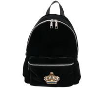 crown embellished backpack