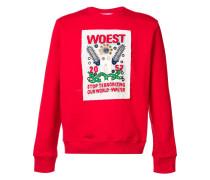 """Sweatshirt mit """"Woest""""-Print"""