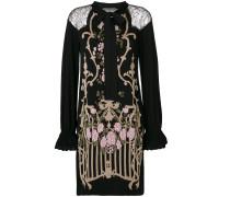 floral design embroidered dress
