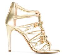 braid-detailed sandals with gemstones