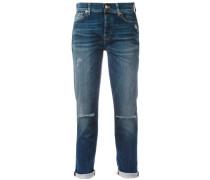 Boyfriend-Jeans in Distressed-Optik - women