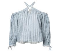 Gestreifte Neckholder-Bluse