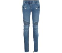 Blue Moto Skinny Jeans