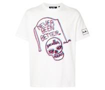 T-Shirt mit Grabstein-Print