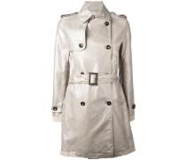 Trenchcoat im Metallic-Look - women - Baumwolle