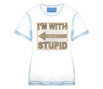 Gerades T-Shirt aus Tüll