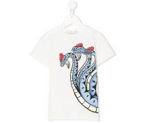 T-Shirt mit Schlangen-Print