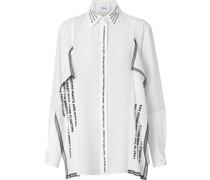 Oversized-Hemd mit Spitzensaum