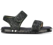 Sandalen mit Glitzerapplikationen