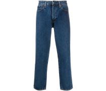 Tief sitzende Cropped-Jeans