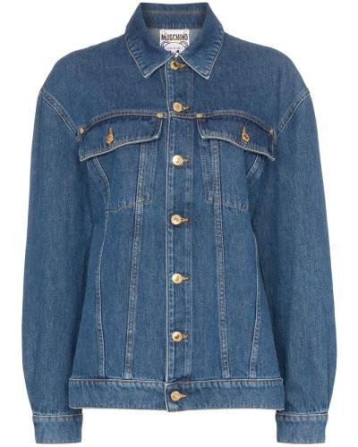 Jeansjacke mit Teddy