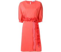 Kleid mit gerüschtem Riemen