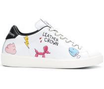 cartoon-print sneakers