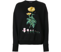 floral embroidered sweatshirt - Unavailable