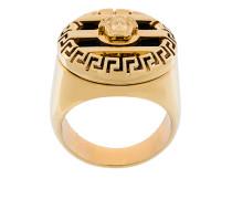 3D Greek Key Medusa ring