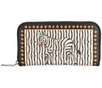 zebra print continental wallet